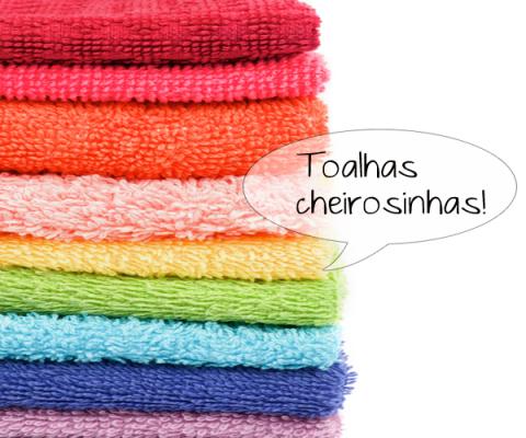 Como tirar mau cheiro de toalhas