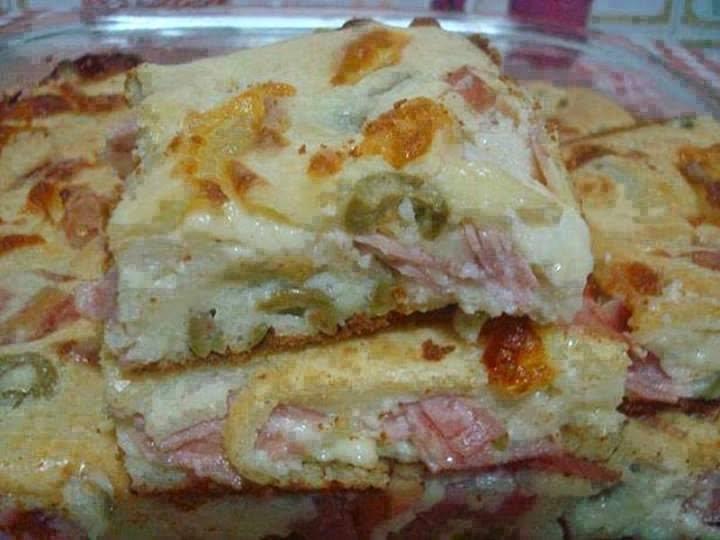 Receita de Torta de queijo, presunto e frango