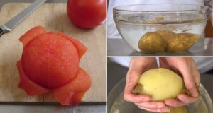Truque descascar Tomate, Cebola e Batata
