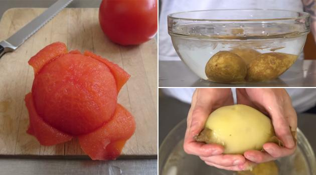 Truque para descascar Tomate, Cebola e Batata