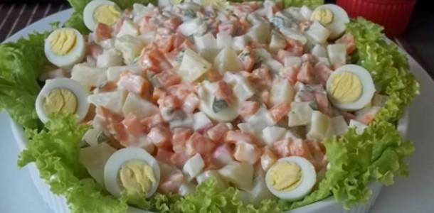 Salada com Maionese de Leite