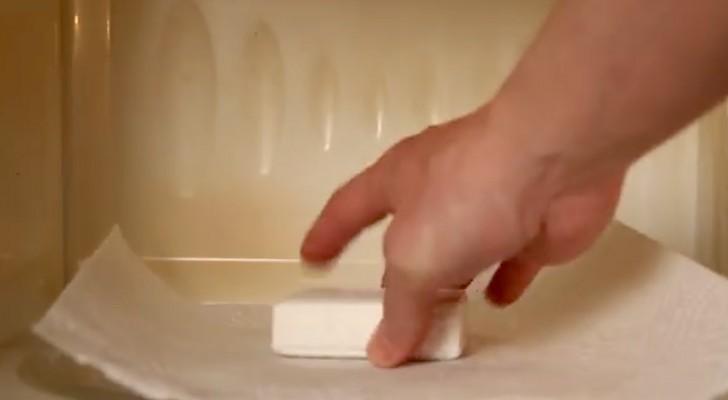 sabonete no microondas