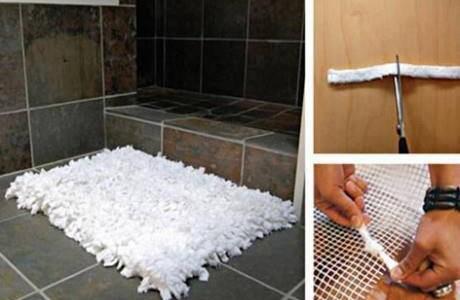 Reciclar: Fazer da camisa um tapete