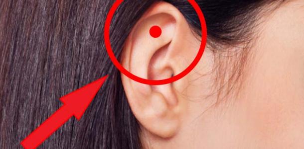 Curiosidade: Massagear ponto na orelha