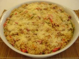 Arroz com atum light