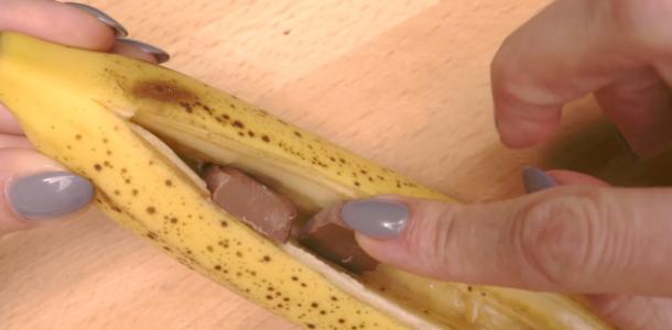 Curiosidade: Chocolate dentro da banana