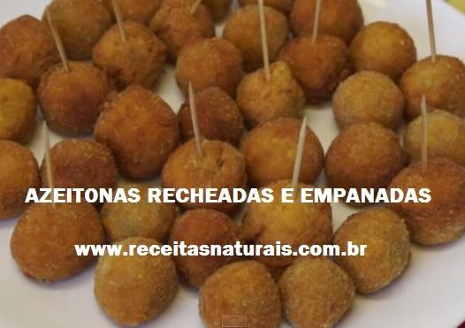 Receita de Azeitonas empanadas e recheadas