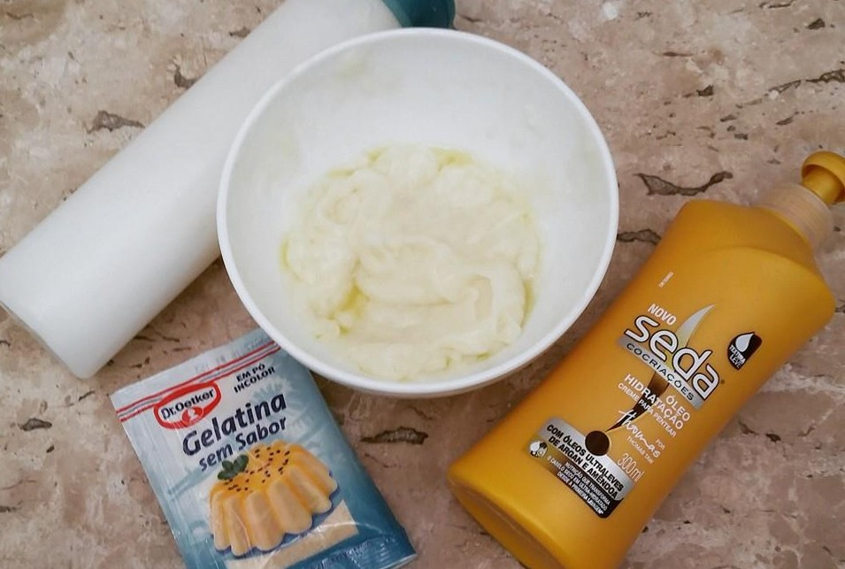 Gelatina no Shampoo