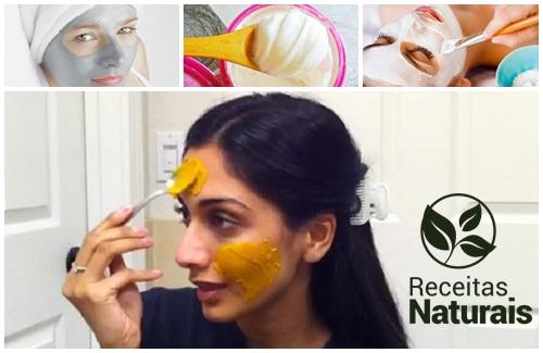 Máscara para tratar espinhas e olheiras
