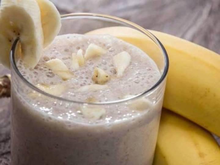 Shake detox de banana para emagrecer