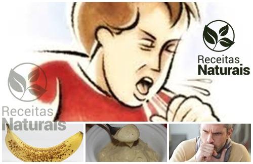 Receita Natural contra tosse com banana
