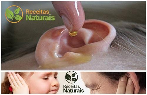Receitas Naturais contra dor de ouvido