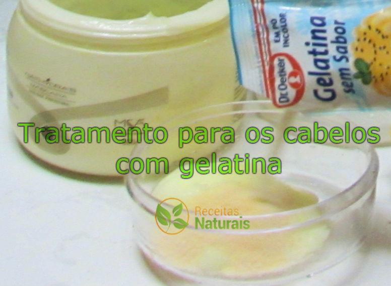 Tratamento para os cabelos com gelatina