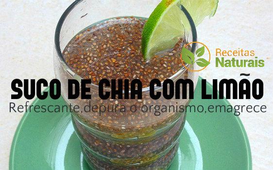 Suco de Chia com limão combinação que traz ótimos benefícios , veja :