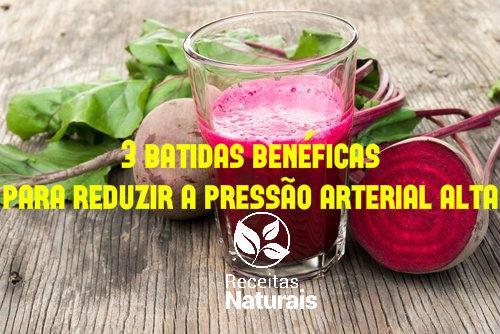 3 batidas benéficas para reduzir a pressão arterial alta