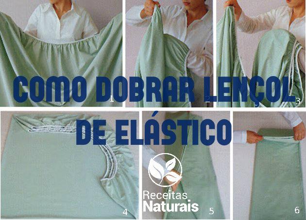 como dobrar lencol elastico