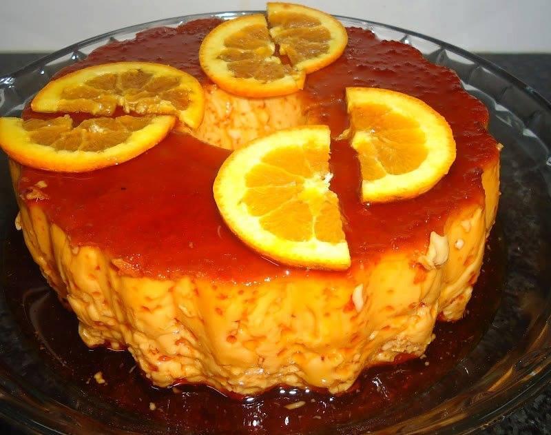 pudim cremoso de laranja