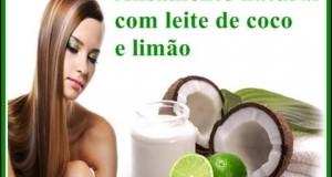 Alisar o cabelo com leite de coco e limão