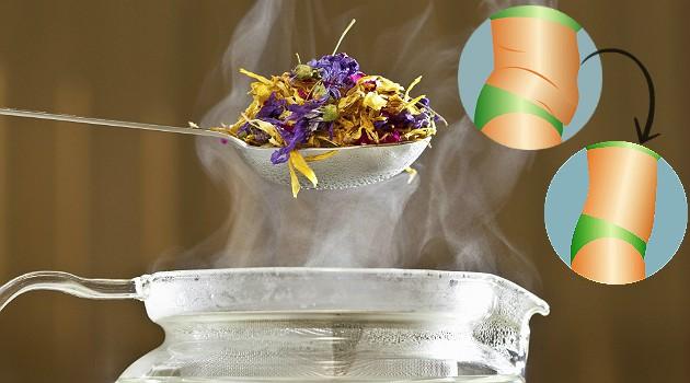 Coquetel quente de ervas diuréticas enxuga até o último centímetro de inchaço