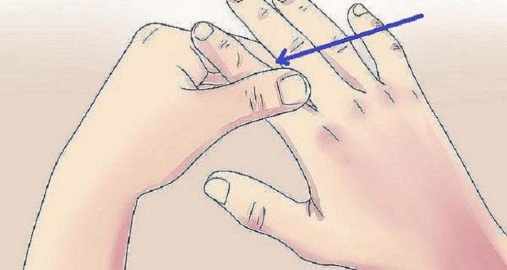 Massageie este dedo por 60 segundos
