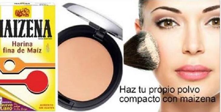 Pó de maquiagem natural e econômico