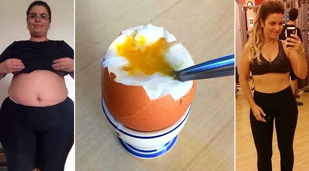 Truque do ovo fez blogueira secar 45 kg