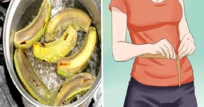 Banana verde afina a cintura