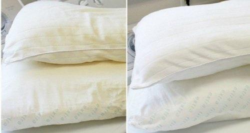 Como branquear travesseiros amarelados