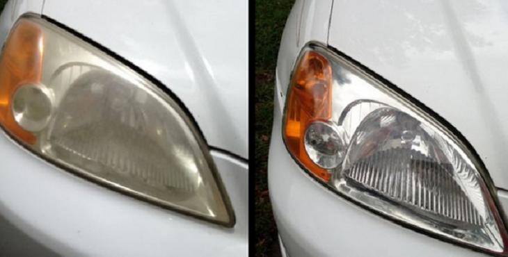 Truque deixa faróis do carro brilhando
