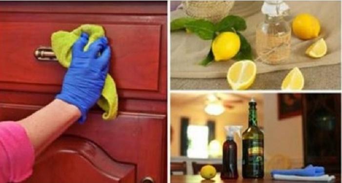 Elimine a poeira e deixe seus móveis com muito brilho com limpador caseiro