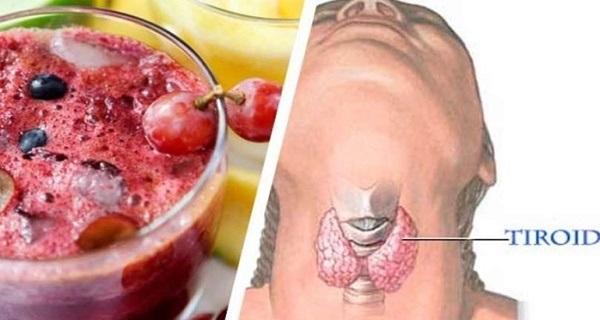 Suco para regular a tireoide, perder peso e combater inflamações