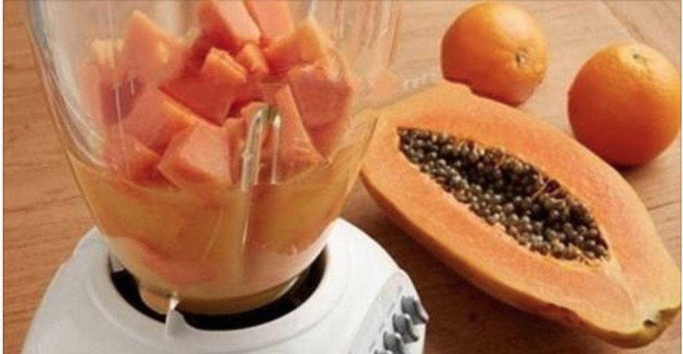Bebida 3 em 1 de aveia e mamão: elimina colesterol, limpa intestino e ajuda a emagrecer