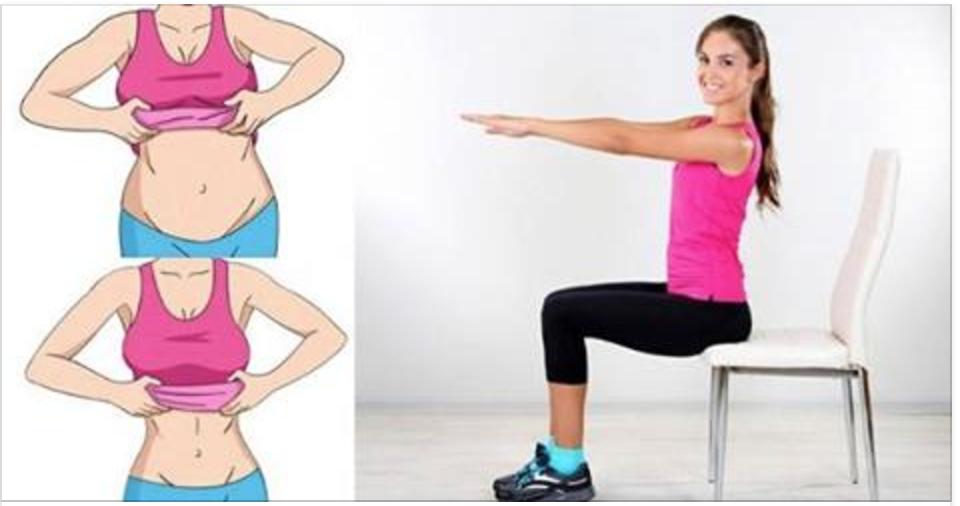 5 exercícios que você faz numa cadeira para reduzir a gordura da barriga rapidamente