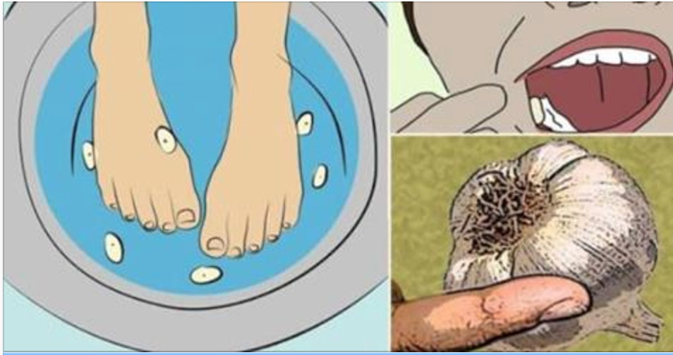 Coloque os pés nesta água com alho e veja esta mudança acontecer no seu corpo