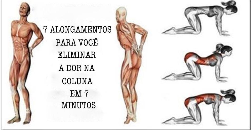 7 exercícios para você eliminar a dor nas costas em 7 minutos