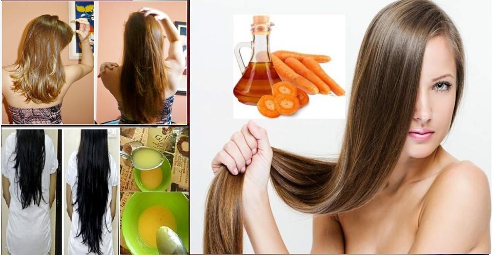 Óleo de cenoura caseiro ajuda o cabelo crescer rápido e forte