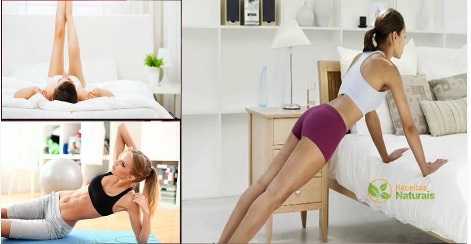 Faça estes exercícios na sua cama antes de dormir e você adormecerá bem como um anjo!