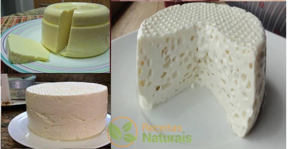 Se você tem 1 litro de leite, 1 iogurte e meio limão, pode preparar o melhor queijo caseiro