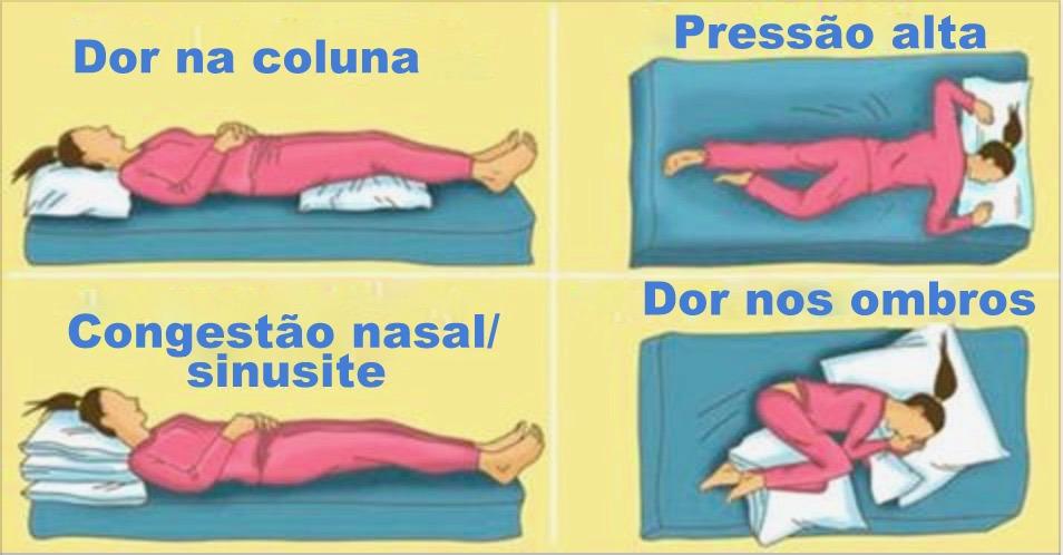 Qual a posição correta de dormir de acordo com o seu problema de saúde