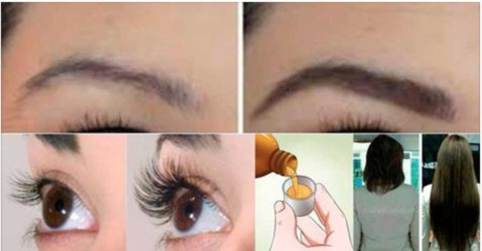 Guarde esta receita antes que se perca: seus cabelos, cílios e sobrancelhas vão crescer como nunca!