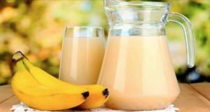 bebida mágica de banana