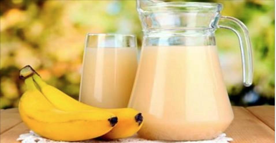 A bebida mágica de banana: elimina gordura, desintoxica o corpo e aumenta a disposição!