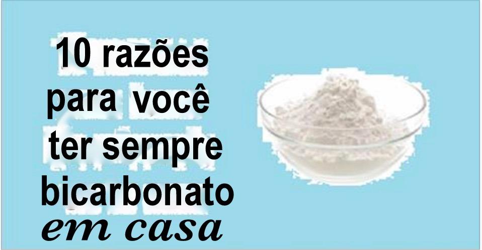 10 razões para você ter sempre bicarbonato de sódio na sua casa!
