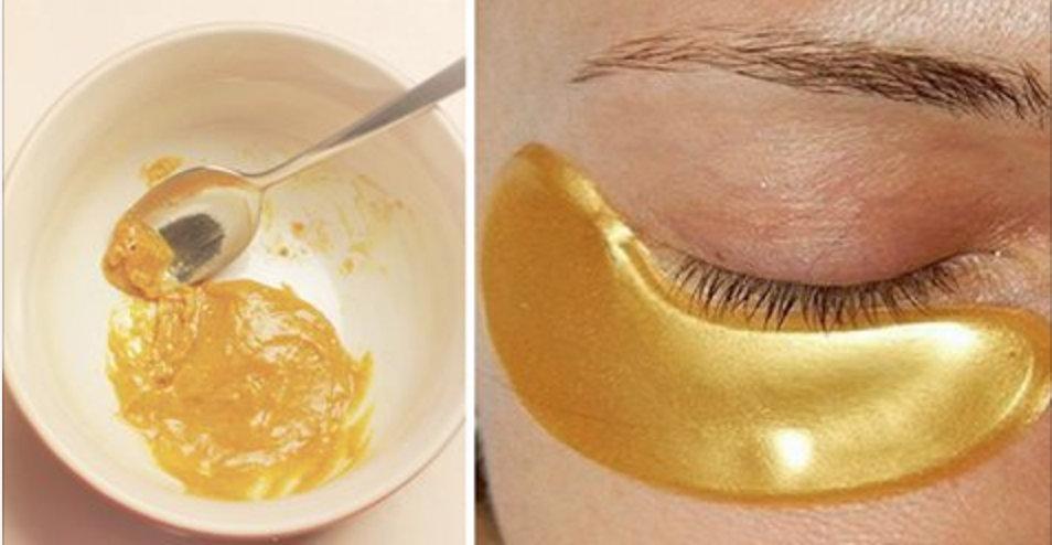 """""""Máscara de ouro"""" para a pele na região dos olhos: em poucos minutos, pele totalmente revitalizada!"""
