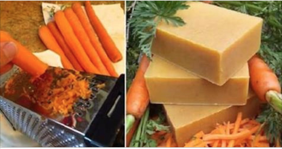 Como fazer sabão de cenoura em casa – para revitalizar a pele envelhecida!