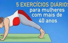 5 exercícios diários especialmente para as mulheres com mais de 40 anos