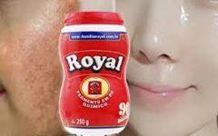 Pele de Bebê em dois dias com mascara de pó royal