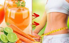 Suco de cenoura e limão que tira a fome e elimina gordura na barriga