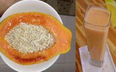 Poderoso remédio de mamão e aveia para emagrecer, controlar colesterol e diabetes