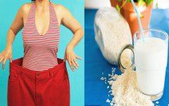 Receita de Leite de arroz para secar a barriga e emagrecer rápido